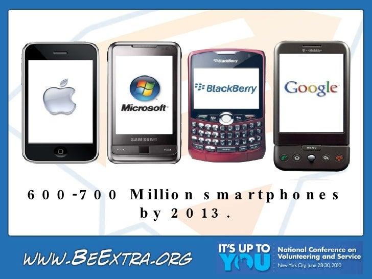600-700 Million smartphones by 2013.