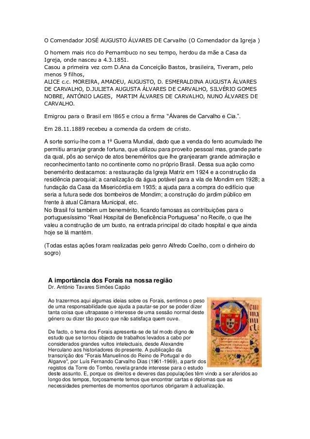 O Comendador JOSÉ AUGUSTO ÁLVARES DE Carvalho (O Comendador da Igreja )O homem mais rico do Pernambuco no seu tempo, herdo...
