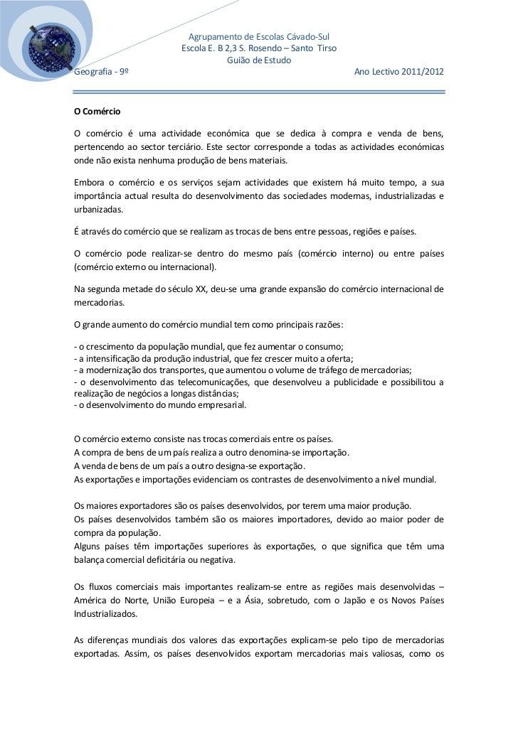 Agrupamento de Escolas Cávado-Sul[Escolher a                              Escola E. B 2,3 S. Rosendo – Santo Tirso   data]...