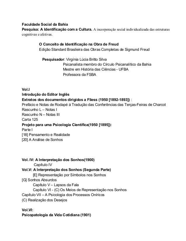 FaculdadeSocialdaBahia Pesquisa:A IdentificaçãocomaCultura.Aincorporaçãosocialindividualizadadasestruturas c...