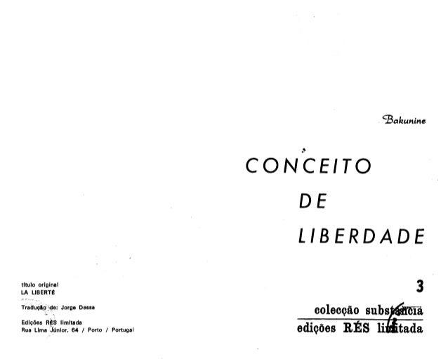 O conceito de liberdade - Mikhail Bakunin