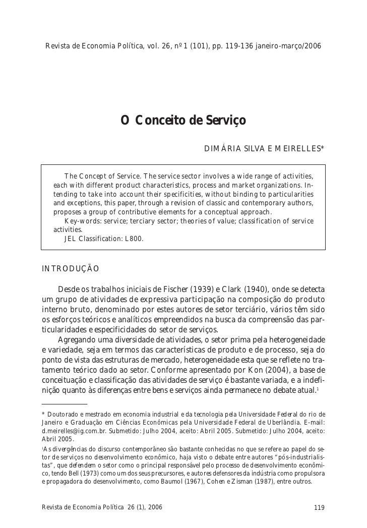 Revista de Economia Política, vol. 26, nº 1 (101), pp. 119-136 janeiro-março/2006                            O Conceito de...