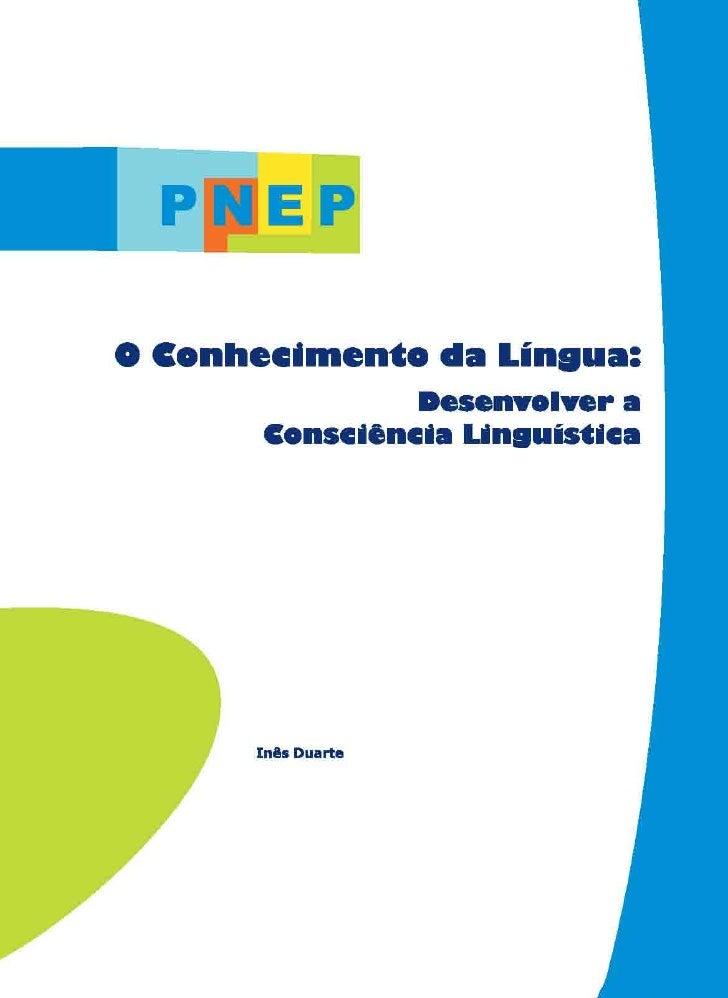 O Conhecimento Da Lingua Desenv Consciencia Linguistica[1]