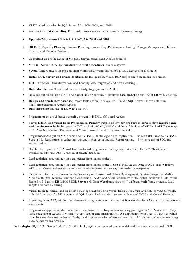 4 - Data Modeler Resume