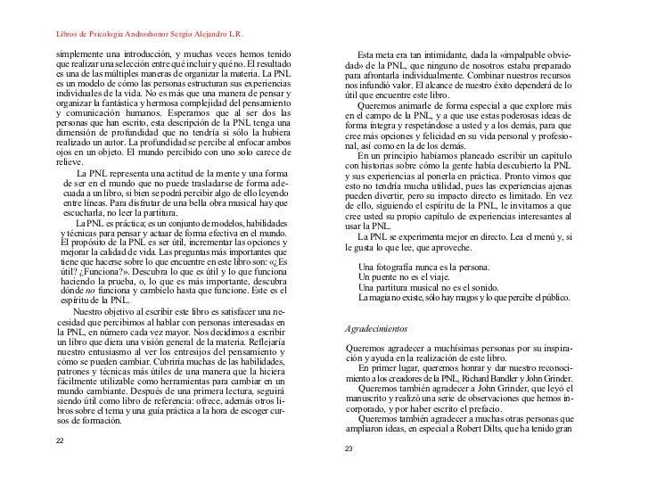 Introduccion pnl o connor pdf Telegraph