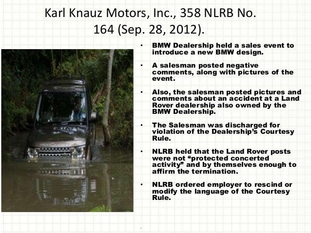 Knauz Land Rover >> O'Connor & Schmidt (2013) Facebook fired: How do i avoid being fired