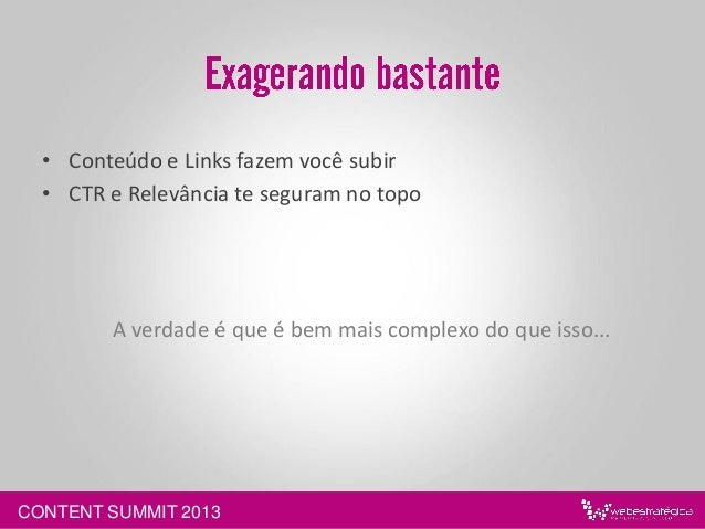 CONTENT SUMMIT 2013 are LINKS!