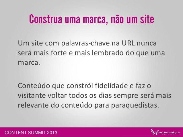 CONTENT SUMMIT 2013