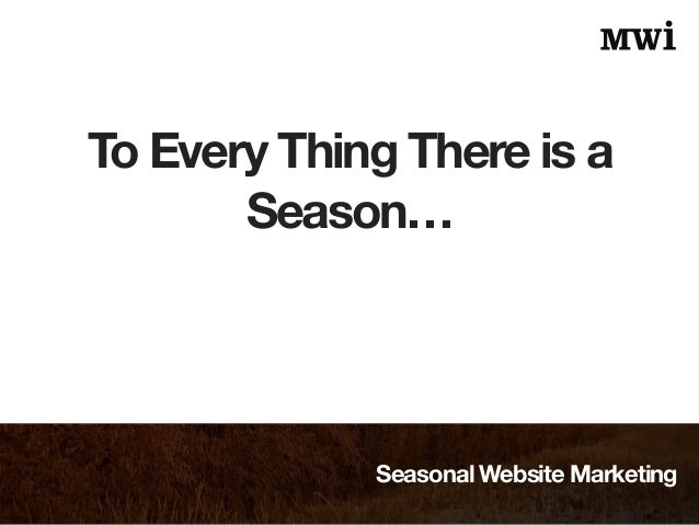 Seasonal Website Marketing Slide 2