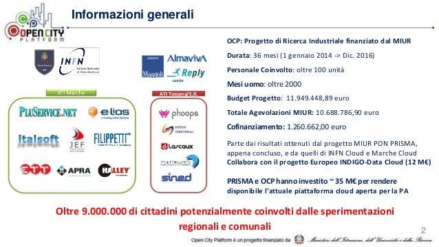 OCP: Progetto di Ricerca Industriale finanziato dal MIUR Durata: 36 mesi (1 gennaio 2014 -> Dic. 2016) Personale Coinvolto...