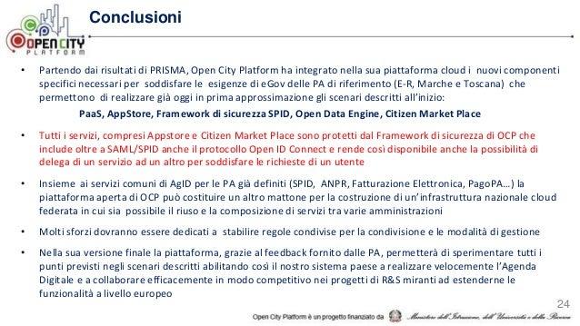 • Sfruttando la piattaforma di OCP un nucleo di Regioni determinato può fornire un primo esempio nazionale concreto di rea...