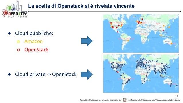 8 La scelta di Openstack si è rivelata vincente ● Cloud pubbliche: o Amazon o OpenStack ● Cloud private -> OpenStack