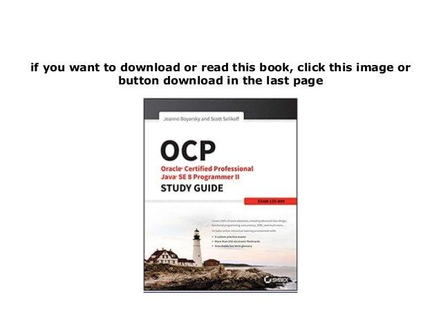 E P U B  Library Ocp Oracle Certified Professional Java