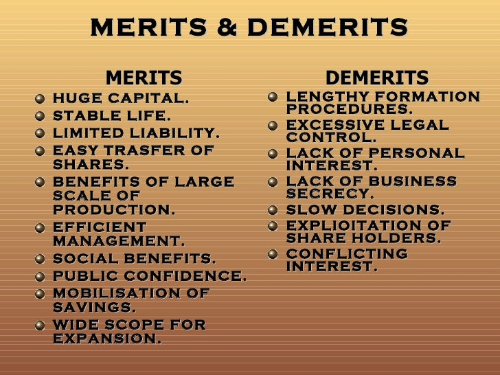 merits and benefits