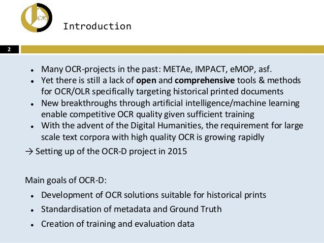 OCR-D: An end-to-end open source OCR framework for