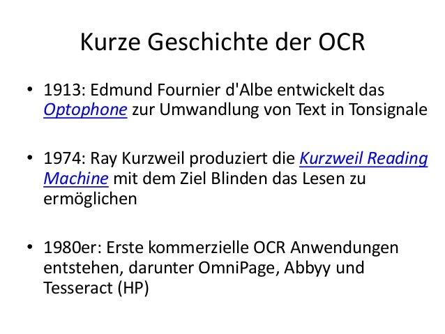 OCR – Herausforderungen und Werkzeuge auf dem Weg vom Bild zur Digitalen Edition Slide 3