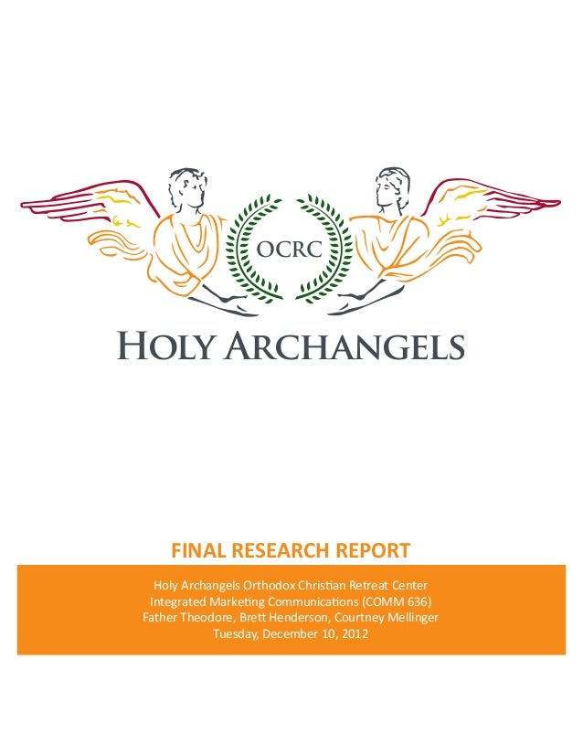 OCRCHOLY ARCHANGELS  FINAL RESEARCH REPORT