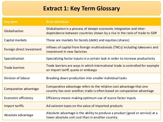 Ocr F Global Economy Paper Key Definitions 2