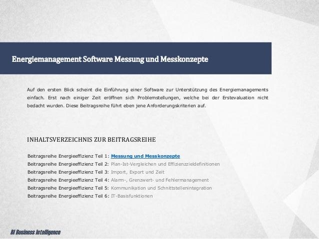 Energiemanagement Software Messung und Messkonzepte Beitragsreihe Energieeffizienz Teil 1: Messung und Messkonzepte Beitra...