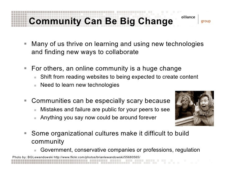 Change is Hard: Online Communities and Organizational Change Management Slide 3