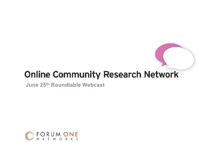 June 25th Roundtable Webcast     OCRN Member Webinar                 June 25, 2009   0