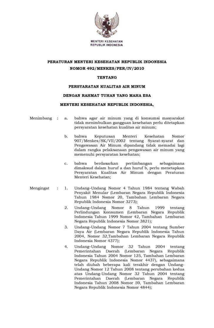 MENTERIK~SEHATAN                            R~PUBLIK INDONESIA        PERATURAN MENTERI KESEHATAN REPUBLIK INDONESIA      ...