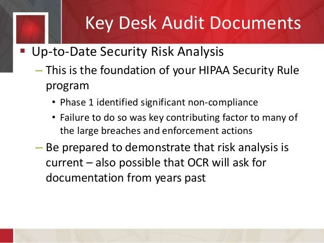 Desk Audit Writing Services