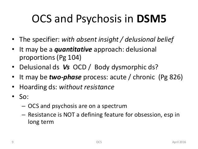 Obsessive compulsive symptoms (OCS)