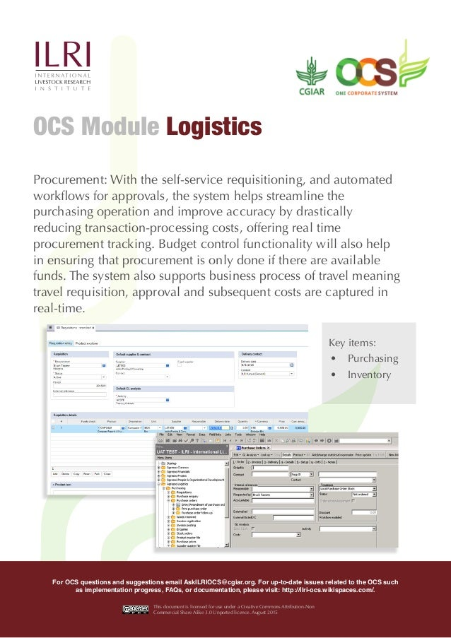 Procurement: With the self-service requisitioning, and automated workflows for approvals, the system helps streamline the ...