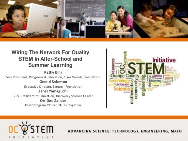 Wiring The Network For Quality STEM In After-School and Summer Learning Kathy Bihr Vice President, Programs & Education, T...