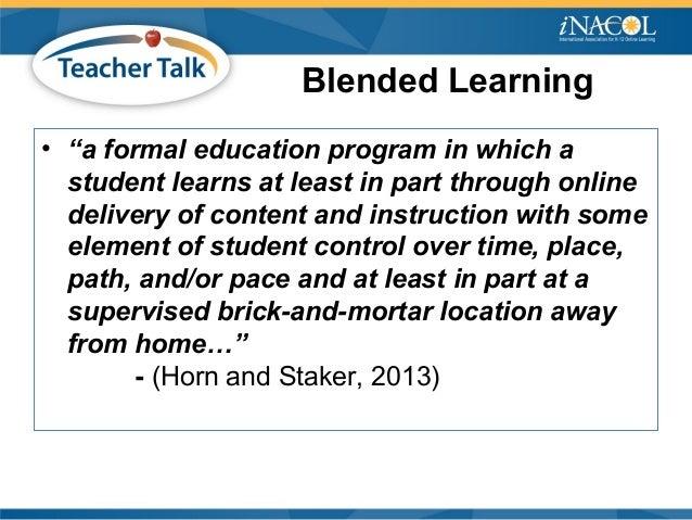 iNACOL Teacher Talk Webinar: Blended Teaching Pedagogy and Personalizing Learning Slide 3