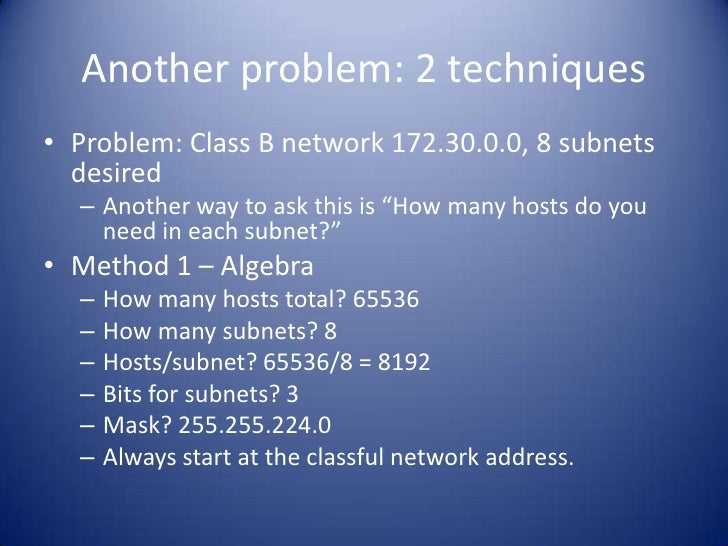 Oct 14 2011 webcast ch7 subnets bruce hartpence 22 fandeluxe Gallery
