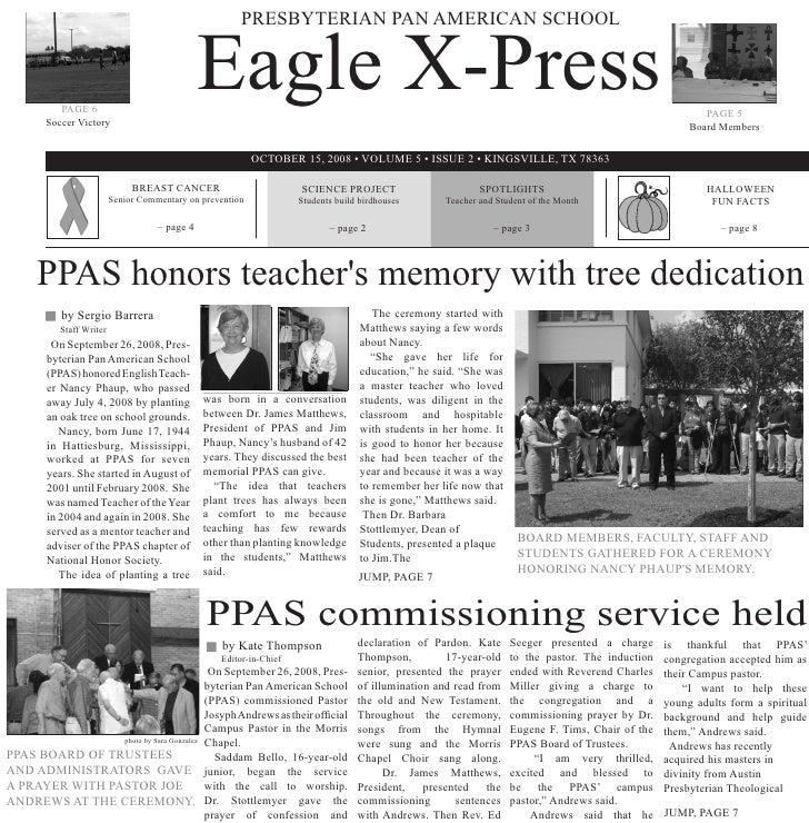 PRESBYTERIAN PAN AMERICAN SCHOOL               PAGE 6         Soccer Victory                                              ...