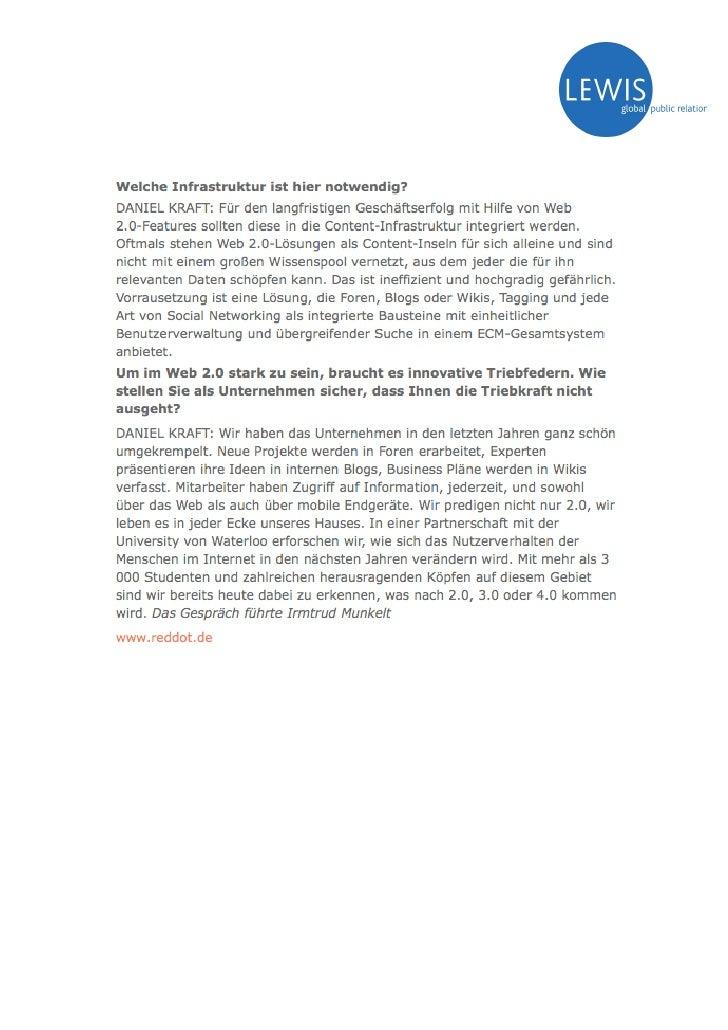 Oct 08 - E2.0 And Sales (Absatzwirtschaft)