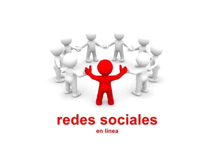 redes sociales en línea