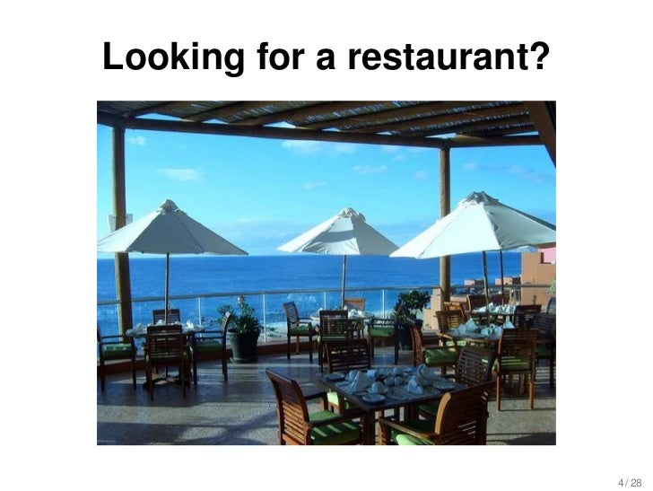 developing a restaurant recommender system Restaurantrecommendation many people see restaurant recommendation (with geoinfo additional markup soon to be integrated to the system - see the development.