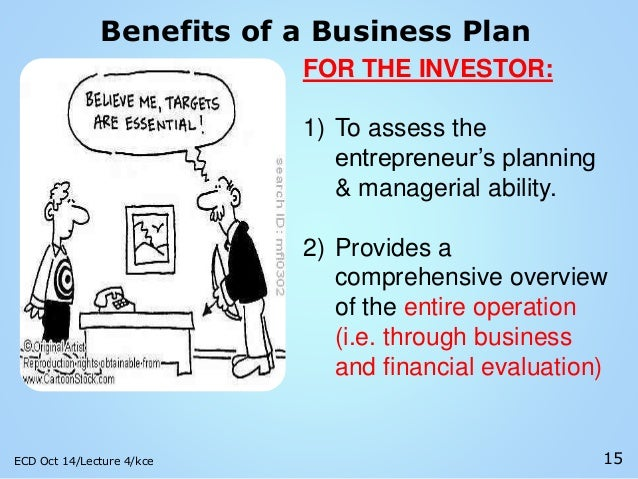 the benefits of a business plan