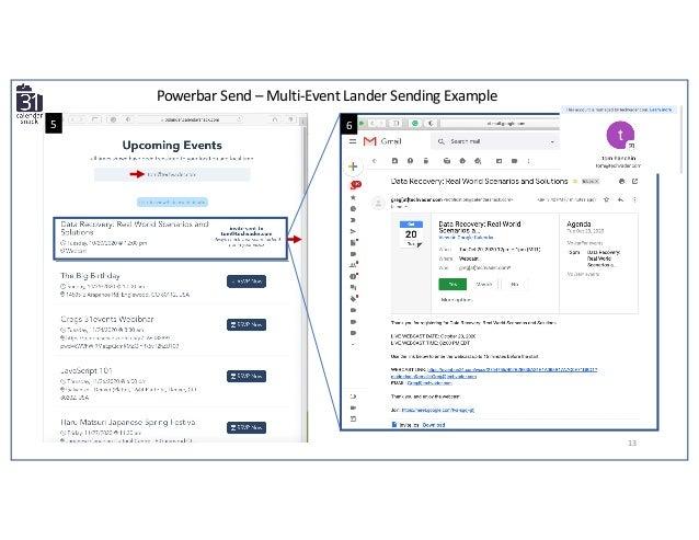 13 Powerbar Send – Multi-Event Lander Sending Example 5 6
