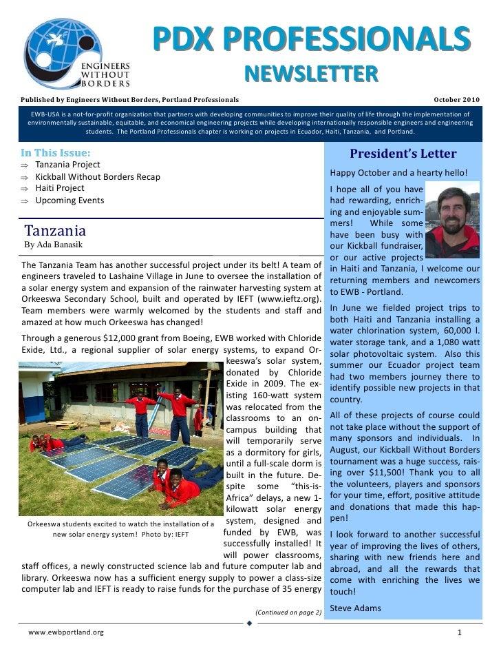 EWB‐USA,PortlandProfessionalsNewsletter                                                                                ...