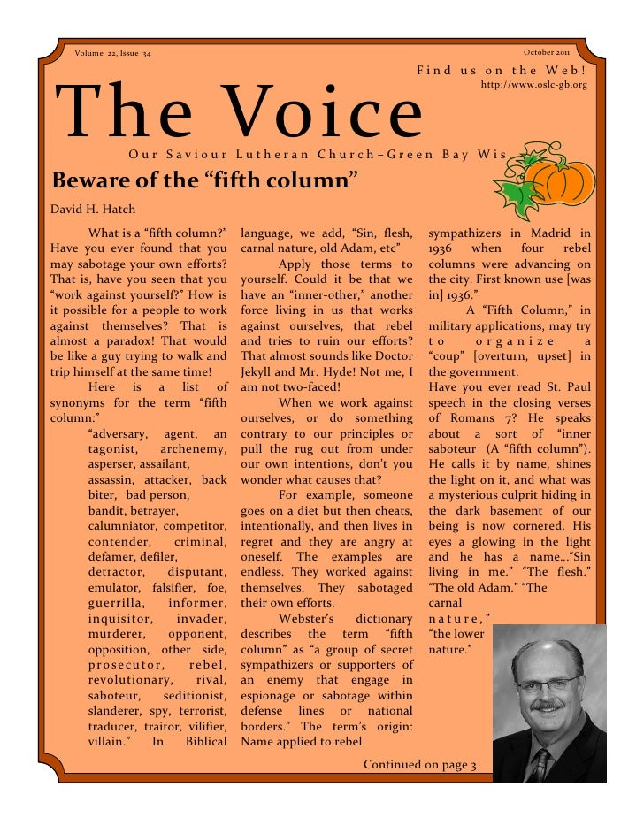 Volume 22, Issue 34                                                                    October 2011                       ...