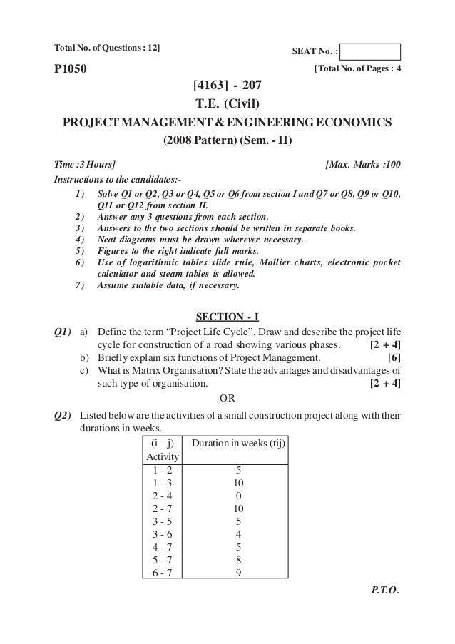 PUNE UNIVERSITY QUESTION PAPER ALL BRANCHES 2008 pattern