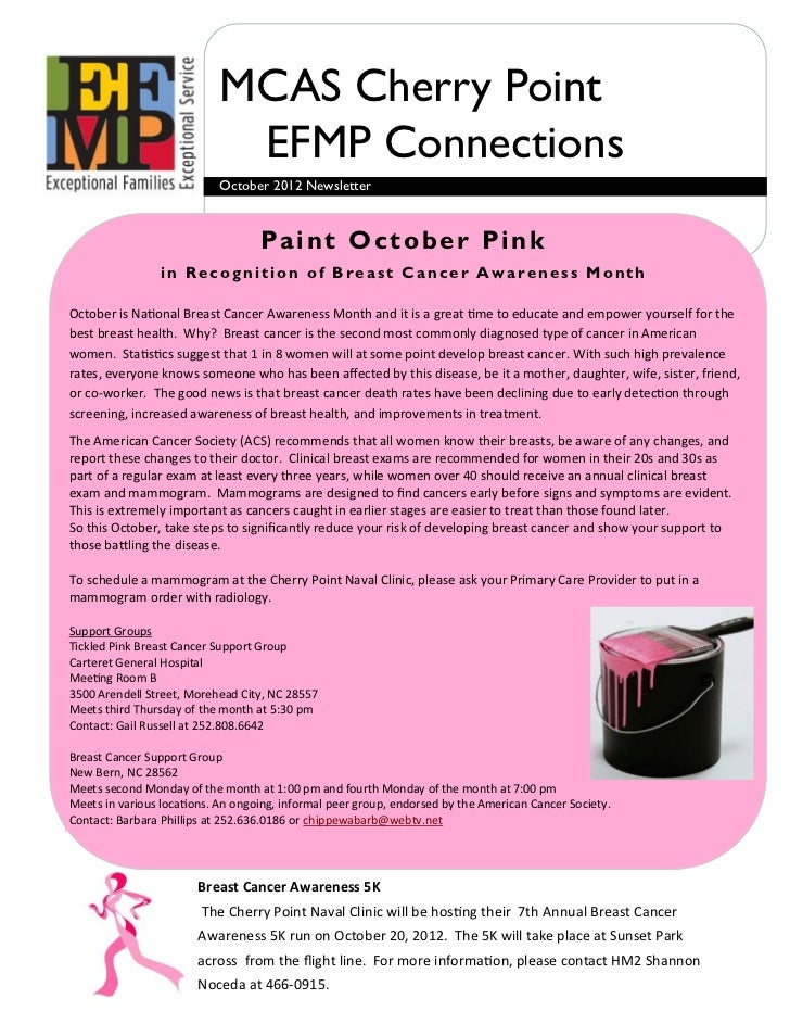 MCAS Cherry Point                             EFMP Connections                            October 2012 Newsletter         ...