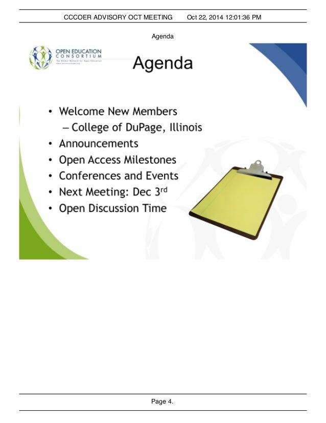 Oct 22 CCCOER advisory slides Slide 3