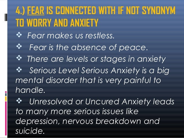 How to overcome anxiety fear and worry