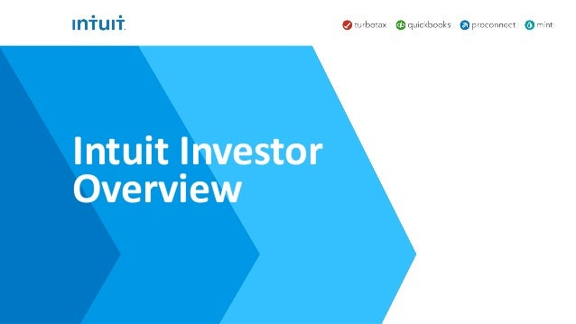Intuit Investor Overview