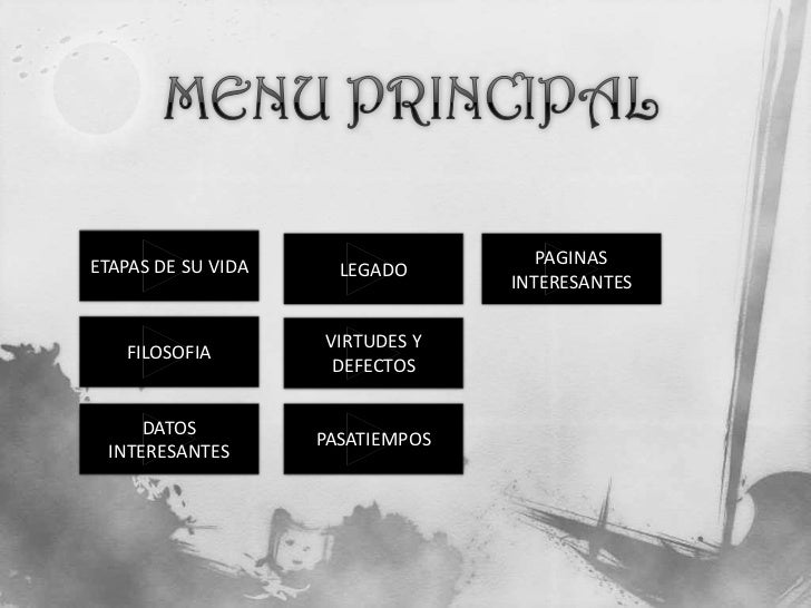 ETAPAS DE SU VIDA                    PAGINAS                      LEGADO                                  INTERESANTES    ...
