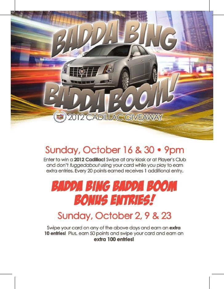 Badda Bing Badda Boom - Mardi Gras Casino