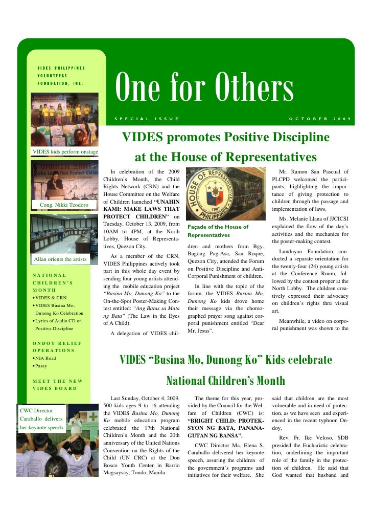 VIDES PHILIPPINES                                            One for Others        VOLUNTEERS        FOUNDATION, INC.     ...