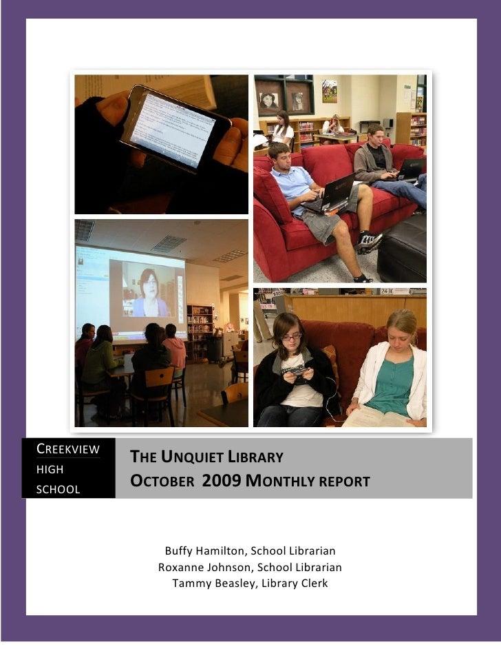 October 2009 Monthly Report