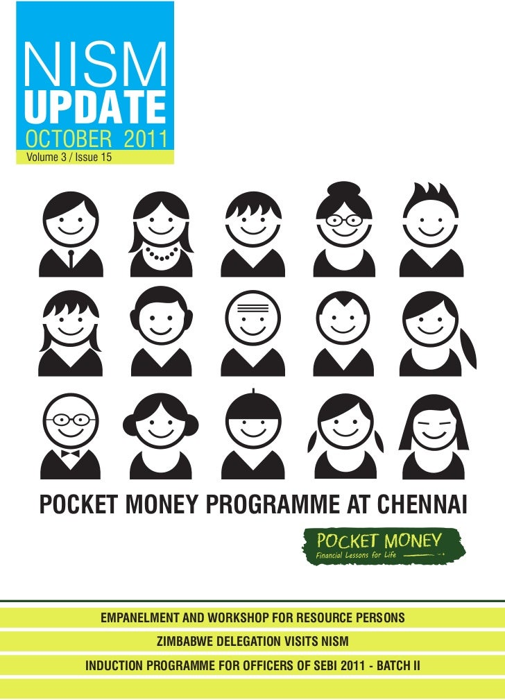 OCTOBER 2011 POCKET MONEY PROGRAMME AT CHENNAI       EMPANELMENT AND WORKSHOP FOR RESOURCE PERSONS                ZIMBABWE...